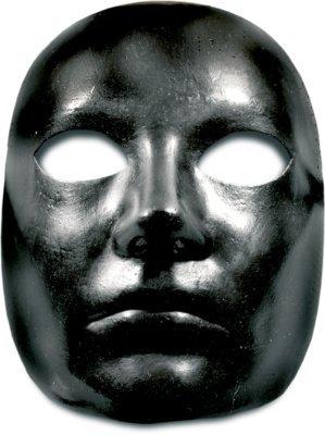 Halloween Venezianische Maske - Volto nero (Pappmaché Halloween-masken)