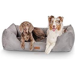Knuffelwuff panier chien, lit pour chien, coussin, corbeille pour chien Dreamline, gris M-L 85 x 63cm
