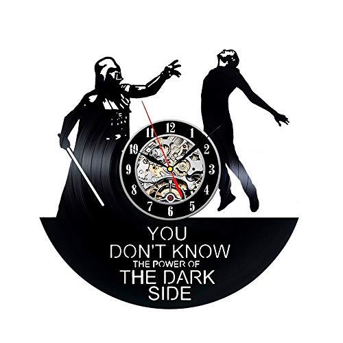 nuanyang Wanduhren,Uhren Star Wars Modernes Design Film Thema Für Wohnzimmer Klassische Darth Vader Vinyl Wand Uhr Wohnkultur 12 Zoll Kann Gut Dekorieren Home Office Kaffee Bar Hotel (Wars Star Bar-thema)
