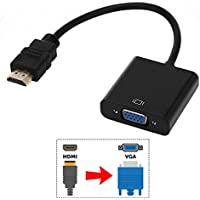 ELUTENG DP auf VGA Full HD 1080P Male to Female DP VGA Adapter Converter Gold Plated 20cm Displayport auf VGA Cable Compatible with HP//Dell//Lenovo//Asus//Chromebox Laptop