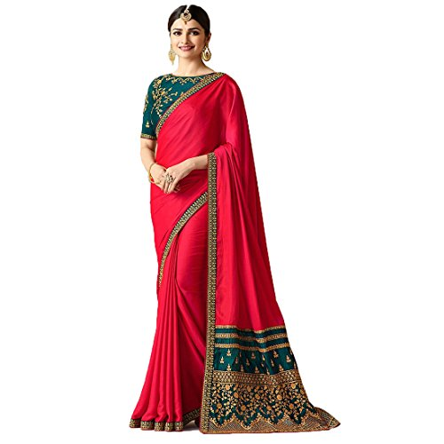 Sarees(Welcome Fashion new Collection Georgette Sana Silk Embroidered sarees for women party...