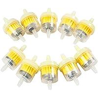 10 filtros de combustible de Winwill, para moto, transparentes, 6 a 7mm
