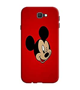 Gismo Samsung Galaxy A5-6 (2016 Edition) Cover / Samsung Galaxy A5 6 (2016 Edition) Back Cover / Samsung A5 2016 Edition Designer Printed Back Case - Mickey Mouse Red