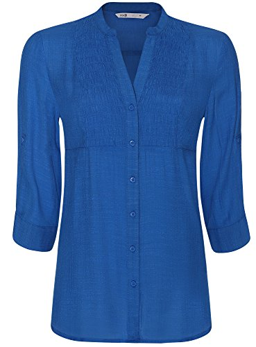 oodji Collection Femme Tunique Col en V Bleu (7500N)