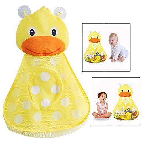 LHKJ Badespielzeug Aufbewahrung,Badenetz für Spielzeug,Badespielzeug Netz Organizer mit Saugnäpfe(Gelb)