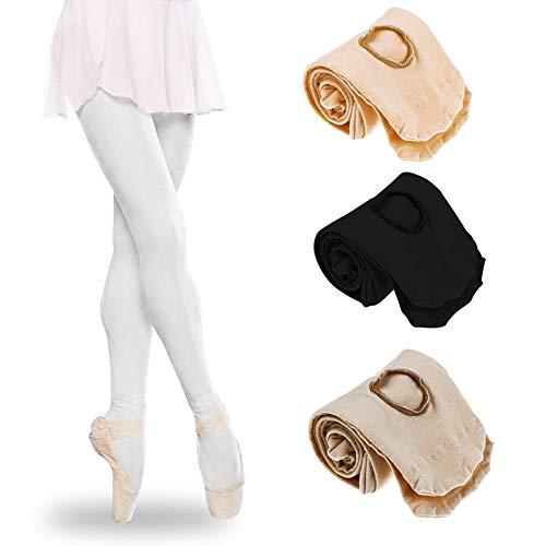 Tubwair Damen Ballett-Strumpfhose, Damen, Mädchen, Basic, Cabriolet, Übergang Ballett-Tanzstrumpfhose, nahtlos, Größe L, Weiß - 7