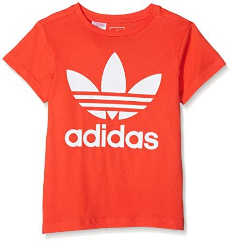 Adidas dh2474, maglietta bambino, rosso brillante/bianco, 152 (11/12 años)