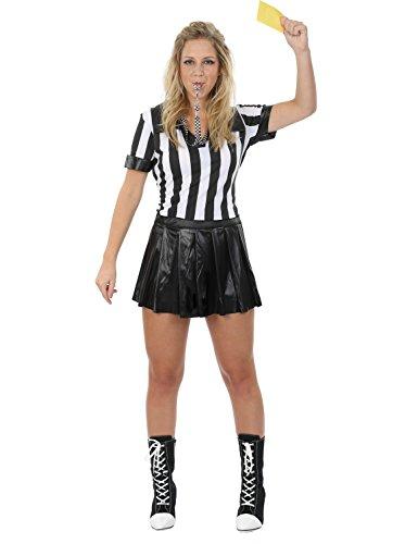 Schiedsrichter Kostüm für Damen Karneval Fasching Verkleidung (Kostüme Schiedsrichter)