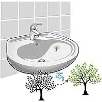 3 x Aufkleber Baum f/ür das Waschbecken zur Erinnerung sich die H/ände zu waschen nach der Toilette