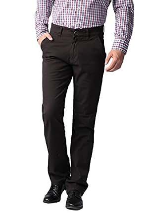 Sparky Men's Slim Fit Trouser (SPT1271_Brown_34)