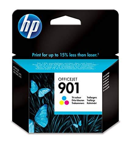 HP 901 Tricromia CC656AE Cartuccia Originale per Stampanti a Getto di Inchiostro, Compatibile con Officejet All-in-One 4500, J4580 e J4680