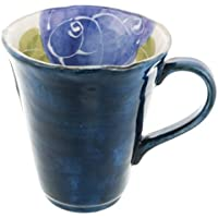 Blue Rose 9cm Tazze grandi Ceramic Fatto in