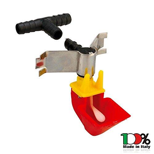 Mistermoby abbeveratoio automatco a vaschetta per galline in plastica made in italy