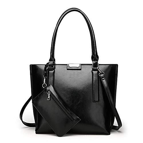 Crystallly Europa Und Die Usa Fan Pu Weibliche Baotan Schulter Tilt Einfacher Stil Handtasche Elegante Dame Der Gezeiten Tasche, (Color : D, Size : One Size)