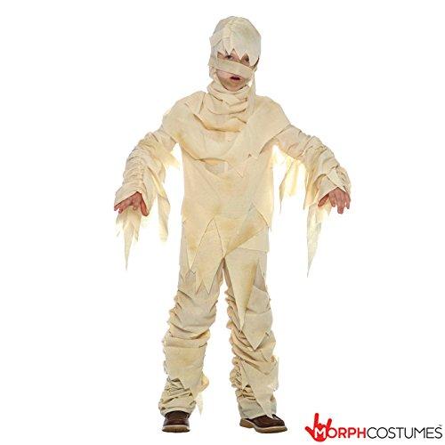 Kinder Ägyptische Mumie Monster Kostüm Parteien und Halloween für Jungen und Mädchen - Klein (3 - 5 Jahre) (Jungen ägyptischen Kostüm)