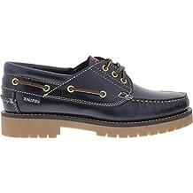 Snipe - Zapatos de Cordones de Cuero para Hombre Negro Negro