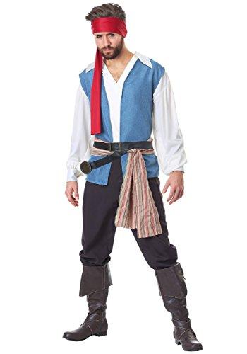 (Plus Size Herren Sparrow Pirate Kostüm - 3X)