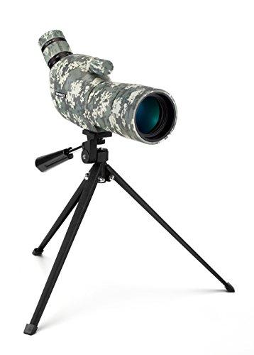 Minox DMAX Camouflage 15-45x50 Spektiv/Jagd-Spektiv mit Klein-Stativ/Inkl. Bereitschaftstasche, Schutzkappe für Okular, Schutzdeckel für Objektiv & Optikputztuch