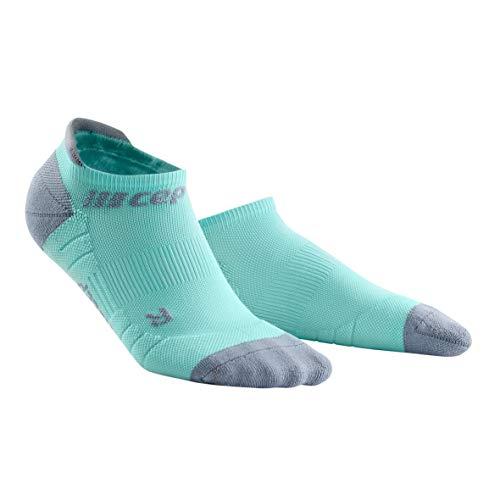 CEP - NO Show Socks 3.0 für Damen | Kurze Sportsocken für Dein Workout in hellblau/grau | Größe III (Kompression Running Socken Damen)