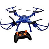 Toyshine 2.4 Ghz Remote Control Drone, 6 CH 6-Axis Quadcopter, One Key Return, Headless Mode, R/C Drone, Army Blue