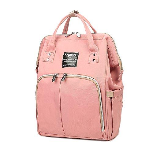 Mama-Tasche, Umhängetasche, Multifunktions-Großraum-Muttertasche, Mutter-Baby-Tasche, Licht-Out-Paket, Mode-Rucksack ( Farbe : Blue flowers ) Pink