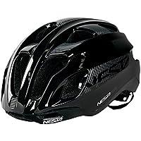 Nesta Helm Casco de Ciclismo, Unisex Adulto, Negro Brillo, S/M