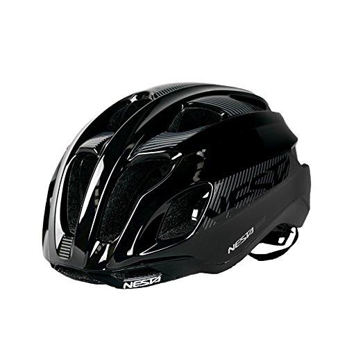 Nesta Helm Fahrradhelm, unisex erwachsene, Unisex – Erwachsene, Helm, schwarz Gloss - Aero-gloss