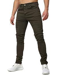 Terance Kole Homme Jeans SESIMBRA Clean Lavé camaïeu Mince Fit Section Lange Pantalon