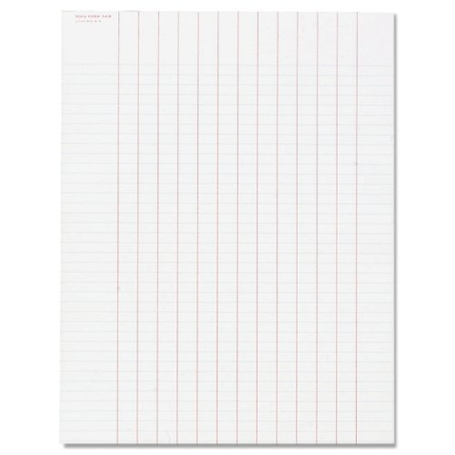 Data Pad w/Numbered Column Headings, Wide Rule,