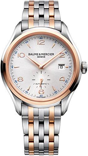 Nuevo–Baume & Mercier Clifton 18K Rose oro y acero reloj automático 10140