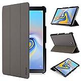 iHarbort Hülle Cover kompatibel mit Samsung Galaxy Tab A 10.5 Zoll (2018 veröffentlicht SM-T590 / T595) - Ultra dünn Etui Schutzhülle Case Holder Stand mit Smart Auto Wake/Sleep Funktion, grau