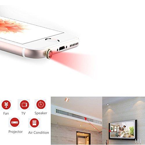 MagiDeal 3.5mm Audio Intelligente Smart IR Fernsteuerung Für Iphone 5 6 6s Plus , iPad , HUAWEI , Schwarz + Weiß - 6