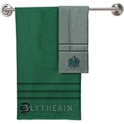 Robe Factory Harry Potter Slytherin una Toalla de baño Toalla de Mano 2 Piezas