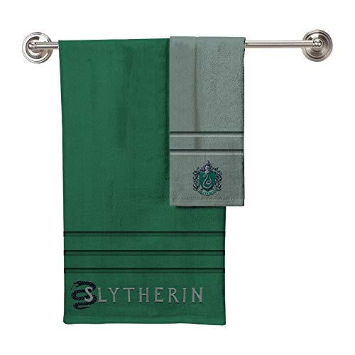 Robe Factory Harry Potter All Houses Badetuch, Handtuch, 2-teiliges Set Slytherin