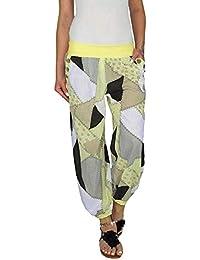 Waselia Leggings Femme Grande Taille Sarouel Pantalon Taille Élastique  Longue Bouffant Palazzo Casual Hip-hop 77b1414f446