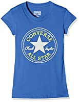 Converse Boy's Chuck Patch T-Shirt, Blue (Oxygen Blue), Small (Manufacturer Size:8-10 Years)