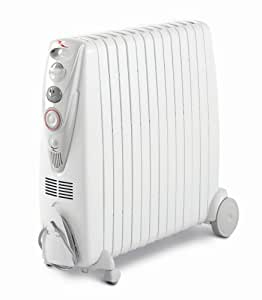 De'Longhi Rapido G011230RTW Oil Filled Radiator, 3 Kilowatt