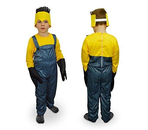 619359 Costume carnevale Aiutante giallo e blu da Bambino da 9 a 12 anni. MEDIA WAVE store ®