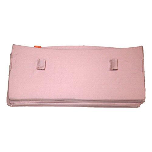 Leander Nestchen für Babybett | Aus 100 % Baumwolle in Soft Pink (rosa), Material nach Oeko-Tex Standard zertifiziert | Original Zubehör für Babybett von Leander, passt für alle Aufbauformen vom Bett, Full-Size-Modell, sichere Befestigung mit Bändern (Full-size-bett-möbel)