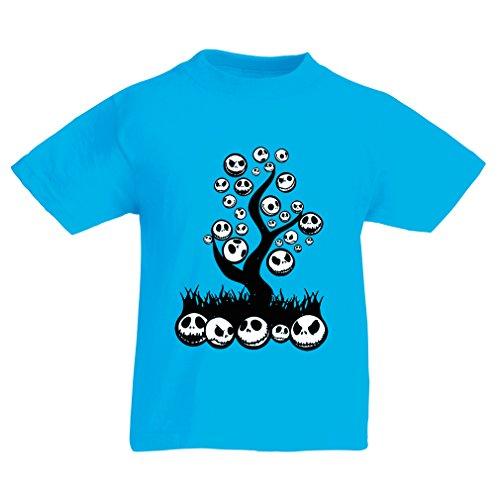 Kinder T-Shirt Scary! (12-13 years Hellblau (Halloween 2017 Ideen Scary)