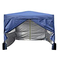 mcc direct Premier 3x3m Waterproof Pop-up Gazebo with Silver Protective Layer Marquee Canopy WS (Blue)