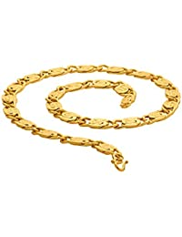 Voylla Chain Necklace for Men (Golden)(8907617541259)