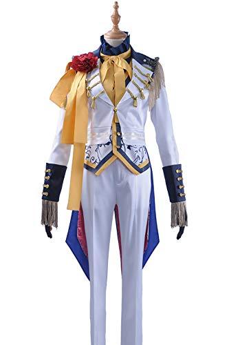 Cosplayfly Game B-Project Killer King Fudou Akane Anime Cosplay Kostüm Halloween Karneval Benutzerdefinierte Männer Frauen(Männlich X-Large,Weiß)