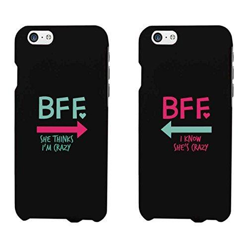 365Impression Crazy BFF Menthe Rose Arrows Noir assorti Best Friends étuis de téléphone Cadeau de Noël pour BFF, plastique, iPhone 6 / iPhone 6, coques iphone