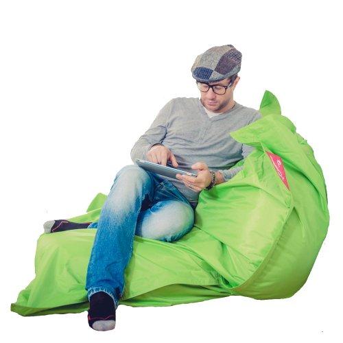 QSack Outdoor Sitzsack XXL, Deutscher Qualitätsfüllung, 140x180 cm (Apfelgrün)