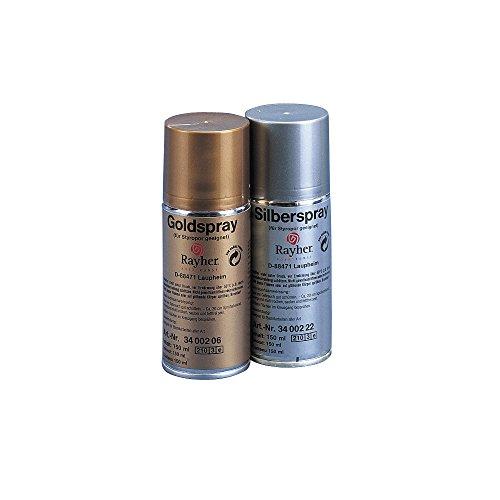 RAYHER - Deko-Spray, styroporgeeignet, Dose 150 ml, silber