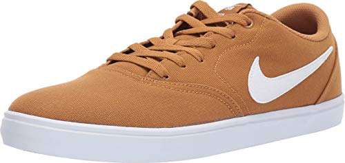Nike Men's SB Check Solarsoft Canvas Skateboarding Shoe, Scarpe da Skateboard Unisex-Adulto, Marrone (Wheat/Summit White 700), 44 EU