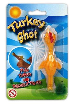 Preisvergleich Produktbild 1 x Truthahn-Schießer Hühnchenschießer 'Flitsche' Turkey Shot aus Gummi zum Abschießen