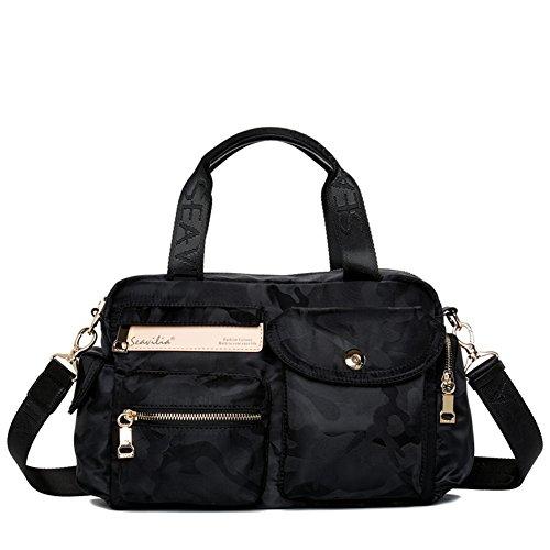 Borsa a tracolla Messenger/Canvas borsa in nylon semplice sport viaggio Tote/Messenger bag-B C