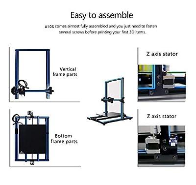 3D Drucker Prusa A10s DIY Desktop 3D Drucker ? Hochpräzises und schnelles Drucken von 3D-Modellen ?200mm/s?? Printer with 1.75mm ABS/PLA 3D Drucker Filament ? A10s 3D-Drucker)-Colorfish